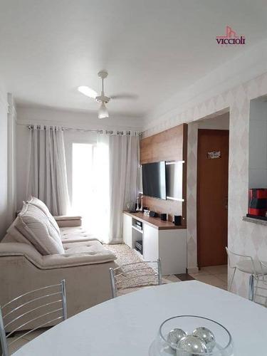 Apartamento Com 1 Dormitório À Venda, 60 M² Por R$ 295.000,00 - Canto Do Forte - Praia Grande/sp - Ap1439