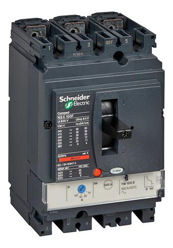 Interruptor Automático Compact Nsx100f 3p 80a 36ka Tdm80