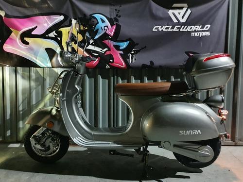 Moto Electrica Sunra Vespa 0km 3000w Litio Baul Urquiza