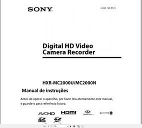 Manual Em Português Sony Hxr-mc 2000