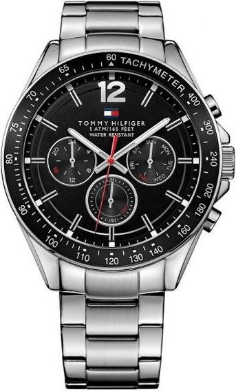 Relógio Tommy Hilfiger 1791104 Aço Inoxidável Fundo Preto
