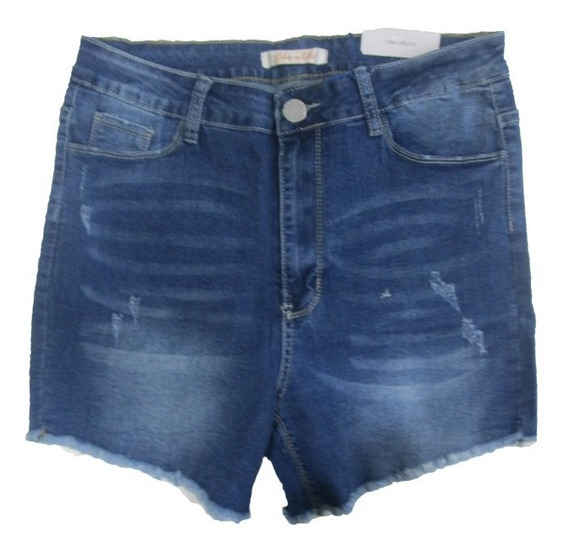 Shorts Para Dama Chocolate Denim
