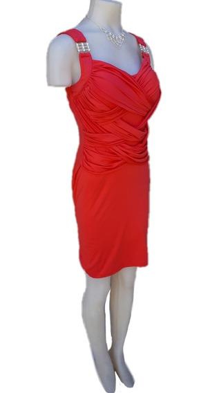 Vestido Coral De Fiesta Oferta!!!