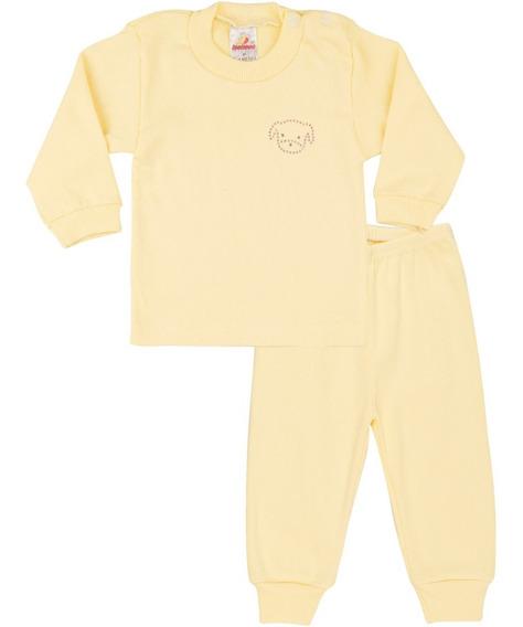 Pijama Bebê Menina Ribana Canelada Longo Inverno Isensee