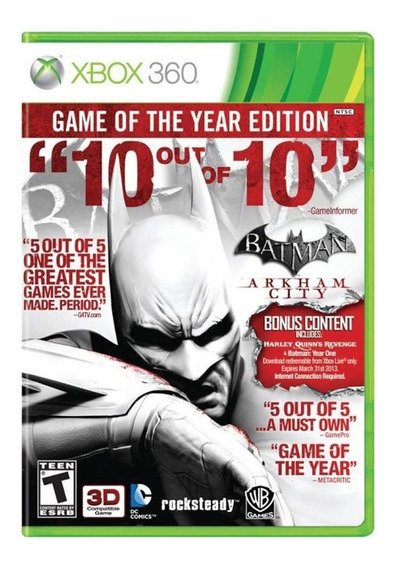 Juego Batman Arkham City Goty Xbox 360 Ibushak Gaming