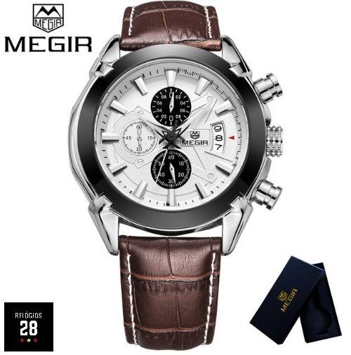 Relógio Masculino Casual C/ Calendário Megir Ml2020g