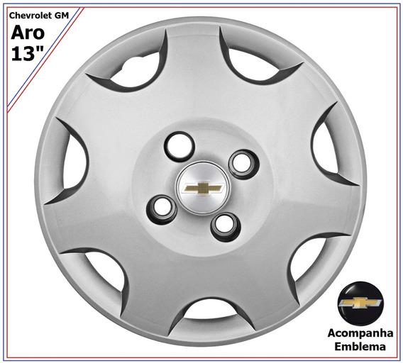Jg Calota Gm Celta Corsa Chevrolet Aro 13 + Brinde Emblemas