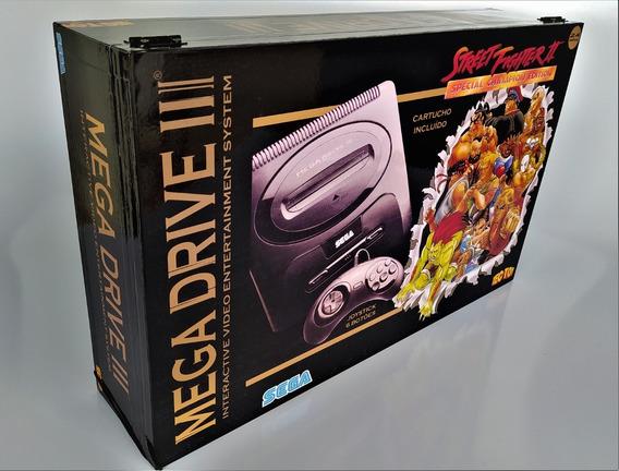 Caixa Vazia Street Fighter Mega Drive Em Madeira Mdf