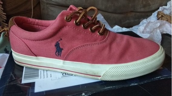 Polo Ralph Lauren Vaughn Salmon Canvas Sneakers