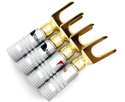 12 Plugs Spade Forquilha Nakamichi Caixas Acústicas Receiver