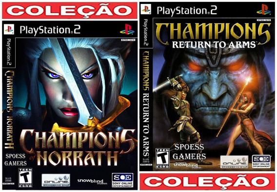Champions Ps2 Norrath + Return To Arms Patch Rpg Compre Já