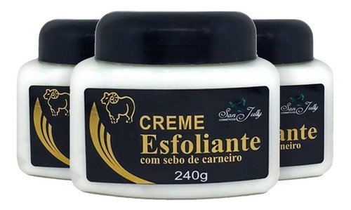3 Creme Para Os Pés Esfoliante San Jully 240ml