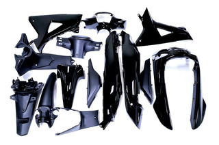Kit Plasticos Honda Wave 110 New 2014 / 15 Negro (14) Jrs