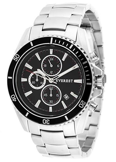 Relógio Masculino Everest Es-30095 Garantia - Mens Black