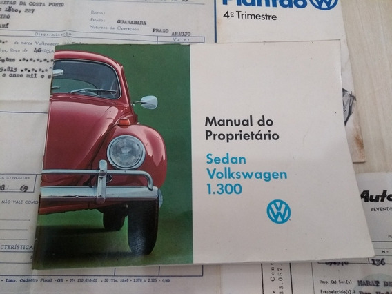 Manual Proprietário Vw Fusca 69 Original Com Nota Fiscal