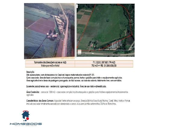 Sitio Semi Plano Em Monte Mor Sp - St00003 - 32945311