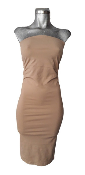 Sexy Vestido Pencil Lapiz Tubo Straples Spandex Kardashian
