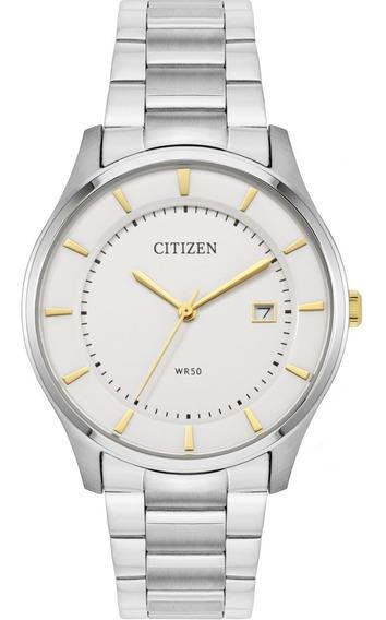 Reloj Citizen Plateado Bd0041-54b Acero Original De Caballero