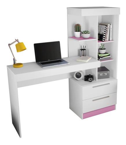 Escritorio Mesa Pc Con Puerta Y Estantes Ideal Oficina