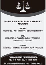 Abogada En San Fernando - Dra. Noblecilla Serrano Ma Julia