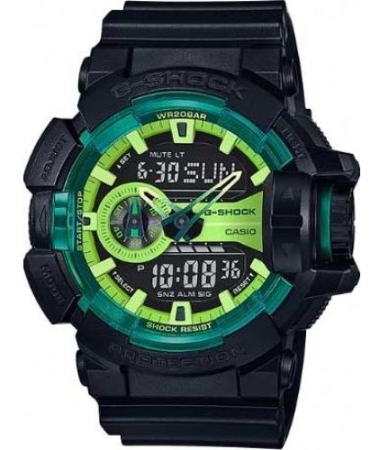 Relógio G-shock Ga-400ly-1adr Anadigi Cx Resina Pul Resina P