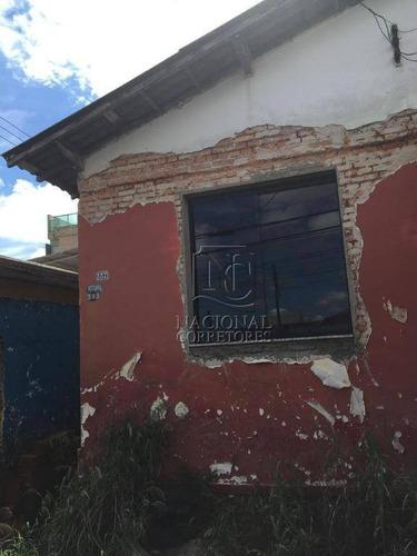 Terreno À Venda, 100 M² Por R$ 200.000 - Parque Novo Oratório - Santo André/sp - Te0874