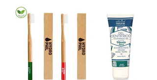2 Cepillos De Dientes Bambú Y Pasta Dental Orgánica
