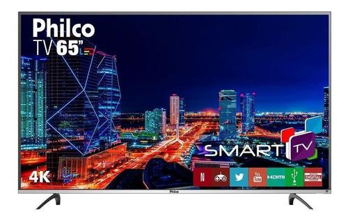 """Imagem 1 de 3 de Smart TV Philco PTV65F60DSWN LED 4K 65"""" 110V/220V"""