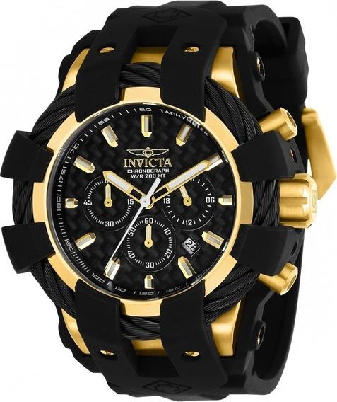 Relógio Glx5698 Invicta 23861 Bolt Dourado Preto Borracha