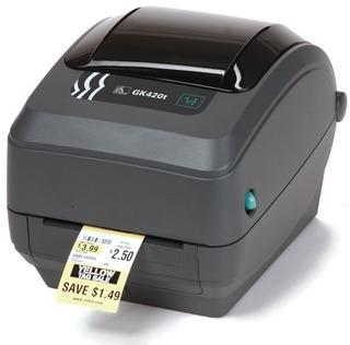 Impresora Etiquetas Zebra Gk420t Usb Red Lan + Soft
