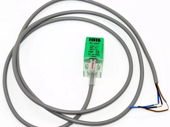Sensor Indutivo Quadrado Pnp N.a 10/30v 5mm Detecção Fotek