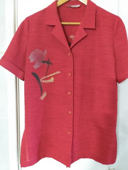 Camisa Camisola Mujer Pintada Flores Mediun Sin Uso