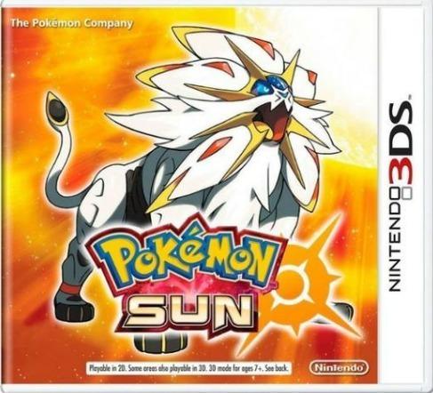 Pokémon Sun 3ds Mídia Física Usado