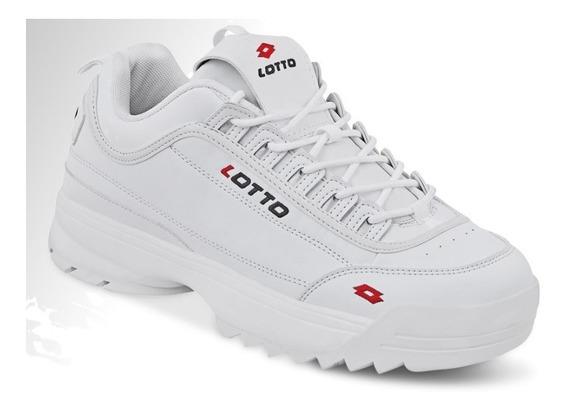 Tenis Deportivo Hombre Caballero Blanco Lotto Comodo Foam