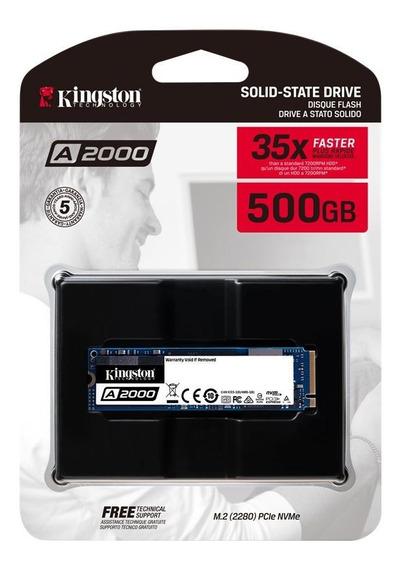 Disco Solido M.2 Nvme 500gb Kingston A2000 Sa2000m8/500g