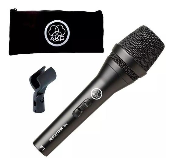 Microfone Dinâmico Akg P3s Perception P3 S P3s Voz E Violão