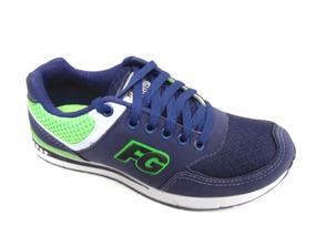 Tenis Masculino Figgo Fgx Azul Marinho/verde Limão