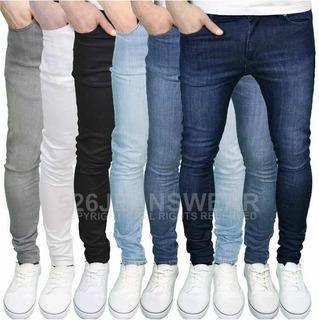 Jeans De Hombre Stretch A La Moda Slim Fit