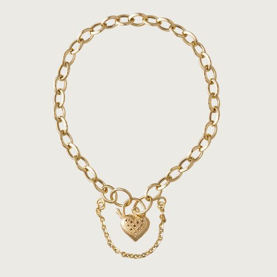 Pulseira Coração Feminina Em Ouro 18k