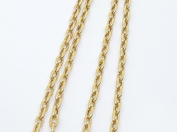 Cordão Cartier Oco 100% Ouro 18k