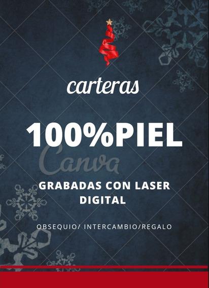 Cartera 100% Piel Grabada Con Láser Digital
