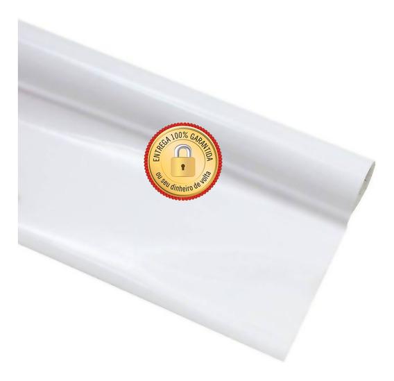 Vinil Adesivo Branco Brilho Contact Decorativo Rolo 45cmx10m