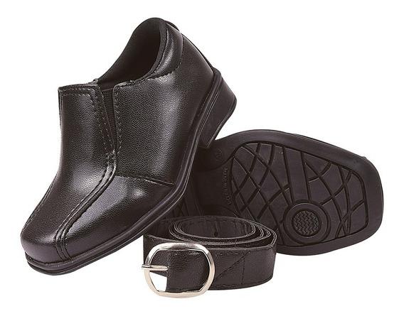 Sapato Sapatinho Social Infantil Masculino Com Cinto