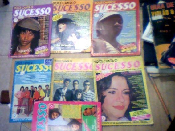 Você Canta O Sucesso- 4 Revistas-com Cifras Para Violão