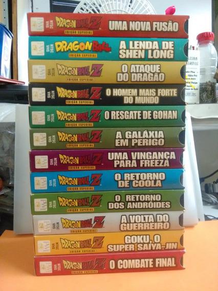 Lote Filmes Dragonball Z Cessete Vhs Antigo Colecionador Dbz