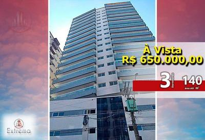 Apartamento Com 3 Dormitórios À Venda, 140 M² Por R$ 650.000 - Vila Guilhermina - Praia Grande/sp - Ap0898