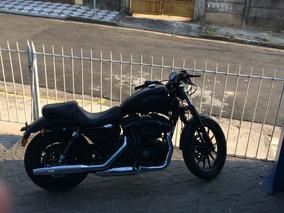 Harley 883 Sport Iron Nova 1 Só Revisão Preta Fosca.