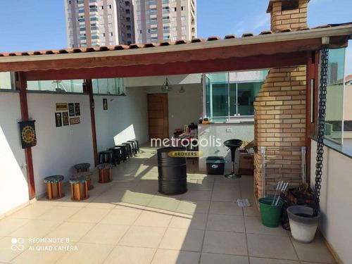 Imagem 1 de 12 de Cobertura Com 2 Dormitórios À Venda, 104 M² Por R$ 490.000,00 - Campestre - Santo André/sp - Co0481