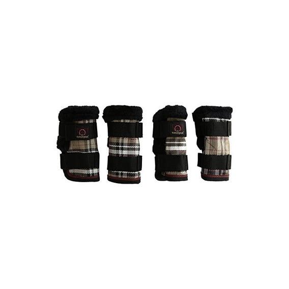 Kensington Kpp Miniature Horse Fly Boots, Deluxe Black Plaid