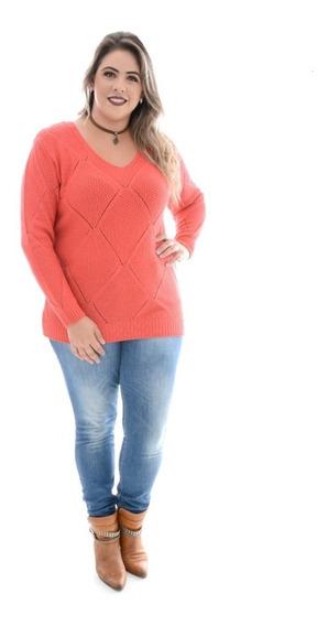 Blusa Plus Size-trico ( Tricot)- Tamanho G